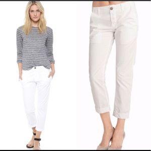 J Brand Inez white button-fly pants Size 26